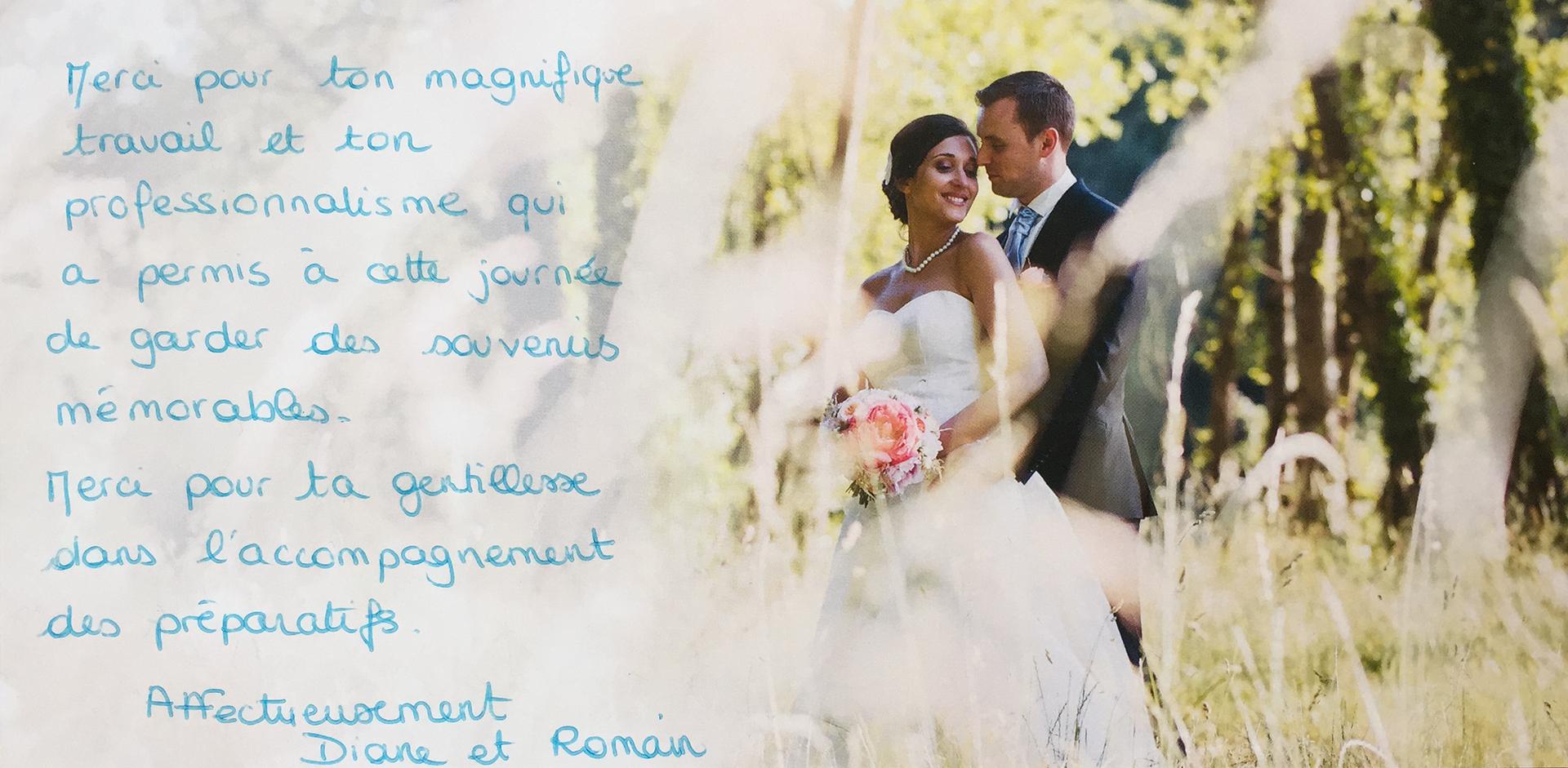témoignges - photographe mariage pro paris