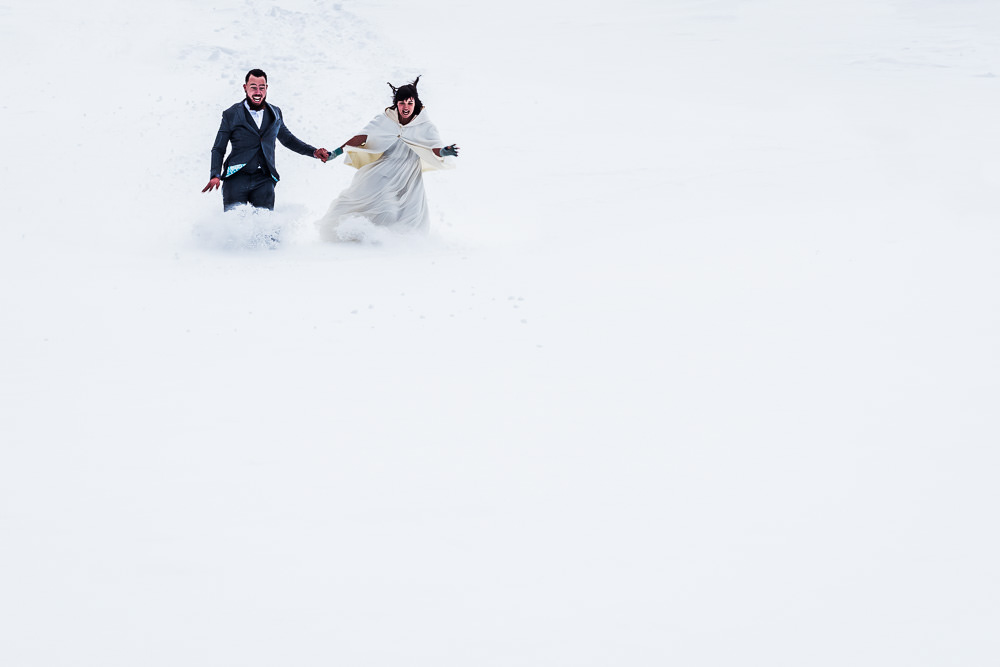 séance day after au ski - Photographe mariage paris Benjamin Brette